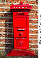 Postbox - Ancient post box in Amsterdam, Netherlands