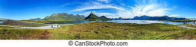 Lofoten archipelago panorama - Panorama Lofoten is an...