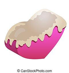 chocolate cherry heart - Chocolate cherry heart, vector art...