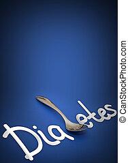 Diabetes - health hazard metaphor