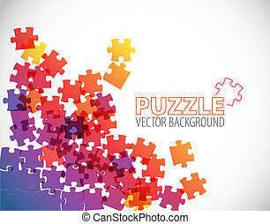 Abstract puzzle background - Abstract background made from...