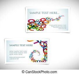Modern business card templates - Set of modern business card...