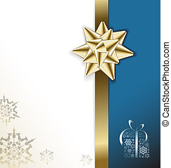 Blue vector Christmas card