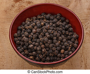 black pepper in bowl