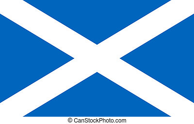 Scotland Flag - Scotland flag isolated on white background