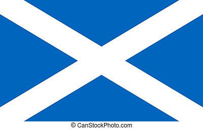 Scotland Flag - Scotland flag isolated on white background.