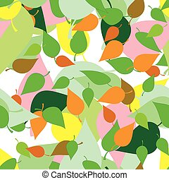 Seamless pattern with colored leaves and blots in grunge style.