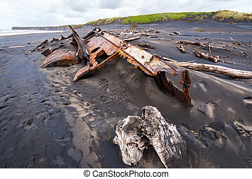 Shipwreck in New Zealand - Remains of the SS Waitangi...