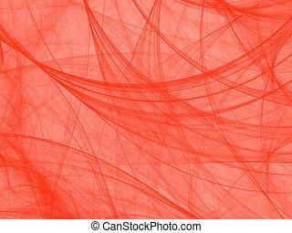 Orange on white fractal image, fantasy cobweb