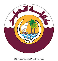 Qatar Coat of Arms - Qatar coat of arms, seal or national...