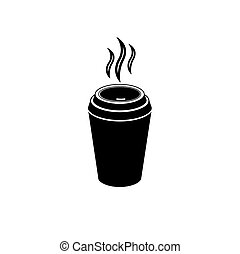 cup of coffee. drink. icon. vector illustration