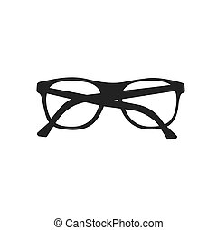 icon of glasses. vector illustration