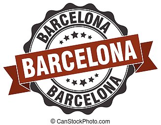 Barcelona round ribbon seal