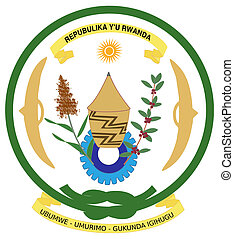 Rwanda Coat of Arms - Rwanda coat of arms, seal or national...