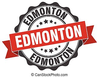 Edmonton round ribbon seal