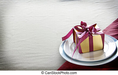 Elegance Golden Gift Box is on Table Ware.