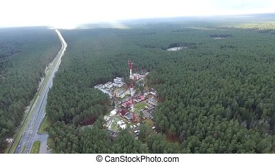 Flight Over The Highway, Tv Tower And Forest 3 - Aerial HD...
