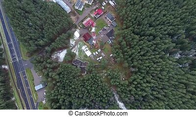 Flight Over The Highway, Tv Tower And Forest 5 - Aerial HD...