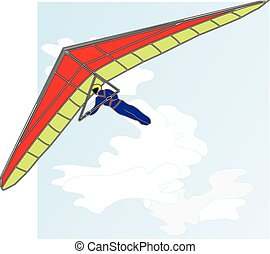 Hang glider vector isolated