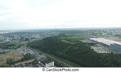 Panorama Over The City Near Forest 4