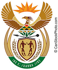 South Africa Coat or Arms - South Africa coat of arms, seal...