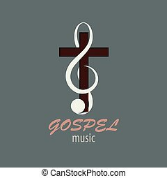 Logo Gospel Music - Musical logo, which symbolizes...