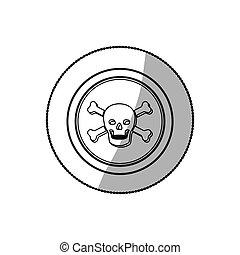 símbolo, muerte, cráneo