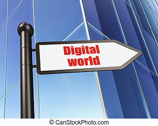 byggnad,  information, underteckna, bakgrund,  digital, värld,  concept: