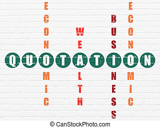 Banking concept: Quotation in Crossword Puzzle