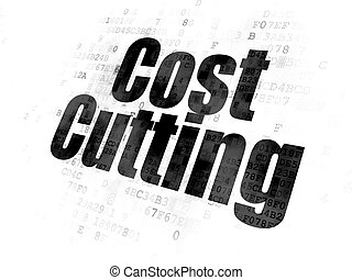 Finance concept: Cost Cutting on Digital background