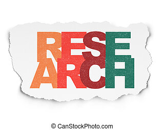 Marketing concept: Research on Torn Paper background -...