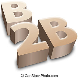 B2B symbol e-business business - B2B symbol for e-commerce...
