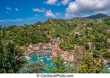 Portofino village on Ligurian coast, Italy - Portofino...