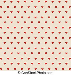 Seamless red hearts, Valentine's day card