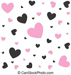 Valentine's Day card, hearts
