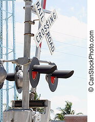 Train crossing gate