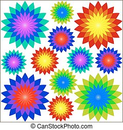 drawings fractal flowers - Drawings fractal flowers, vector...