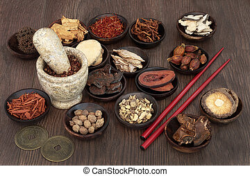 Chinese Apothecary Herbs - Chinese apothecary herb selection...