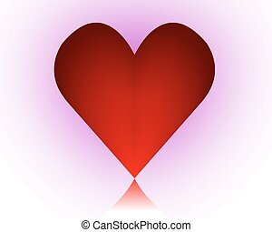 red heart on a purple background - Red heart on a purple...