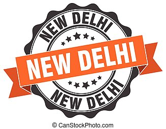 New Delhi round ribbon seal