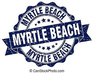 Myrtle Beach round ribbon seal