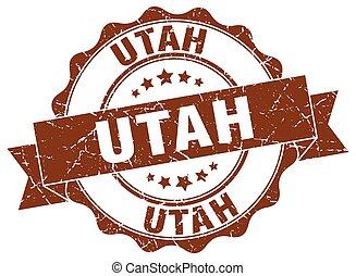 Utah round ribbon seal