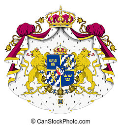 Sweden Coat or Arms - Sweden coat of arms, seal or national...