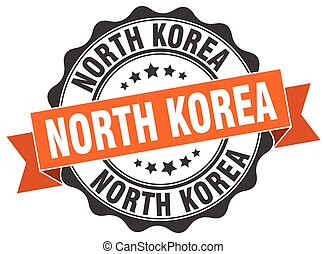 North Korea round ribbon seal
