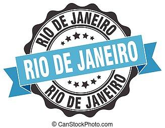 Rio De Janeiro round ribbon seal