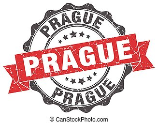 Prague round ribbon seal