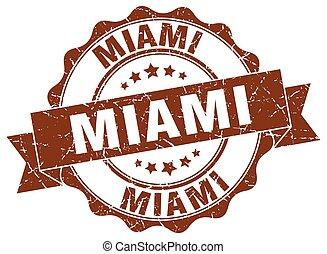 Miami round ribbon seal