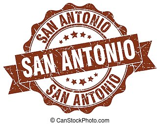 San Antonio round ribbon seal