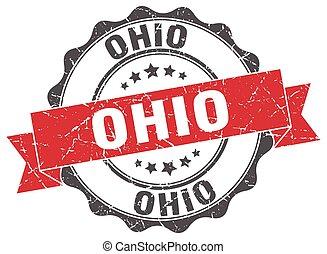 Ohio round ribbon seal