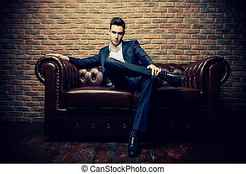 casanova style - Imposing well dressed man in a luxurious...